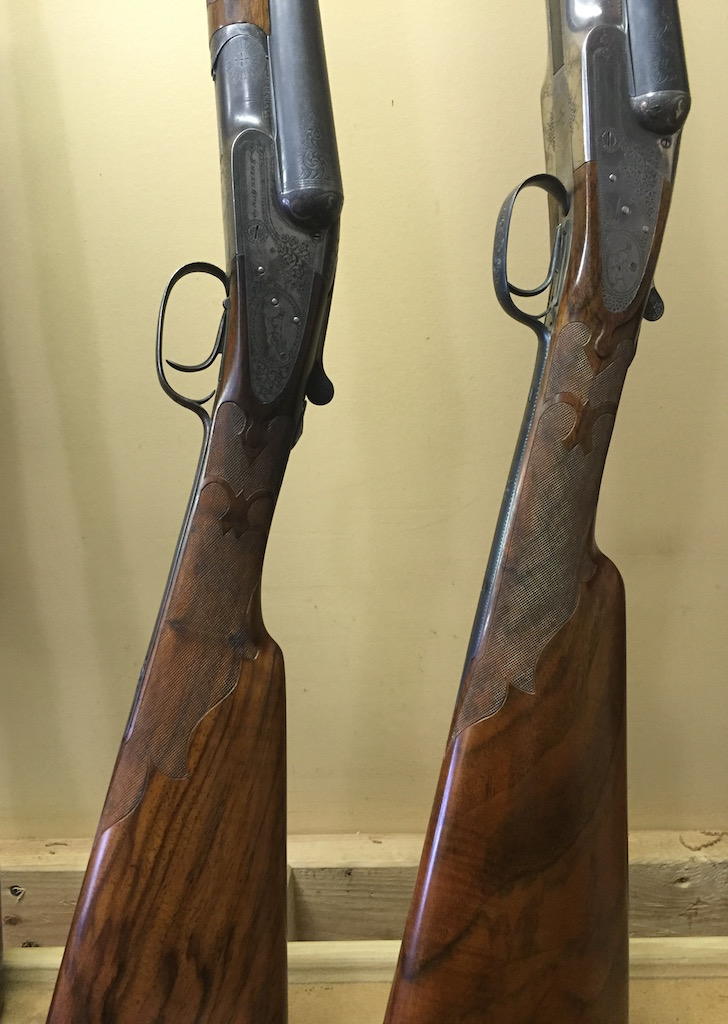 A pair of re-checkered Baker L grades
